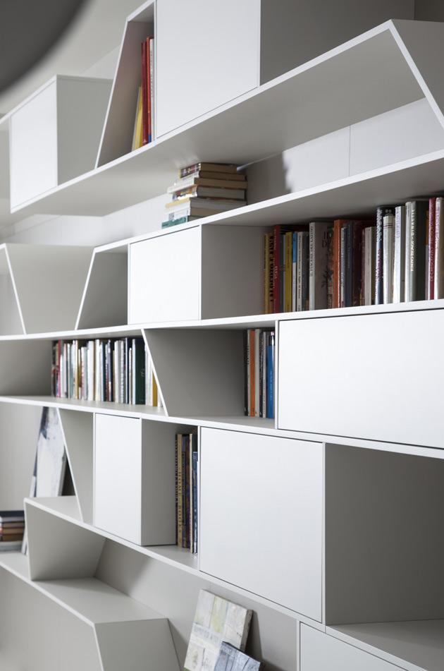 Blogarredo dettagli del post angle di pianca for Librerie moderne bianche